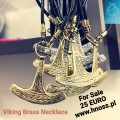 Viking Brass Necklace set -  UKKO's (Thor) Hammer / Axe