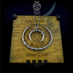 Silver Slavic Set - Bracelet & Lunula Pendant with Chain
