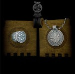 Silver Slavic Set of Perun - Signet & Necklace