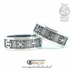 Silver Wedding Rings  with Slavic Ornaments II