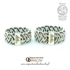 "Silver and Gold ""Viking Wedding Rings"""